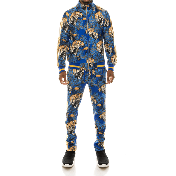 JUNGLE TIGER TRACK SUITS - ROYAL BLUE
