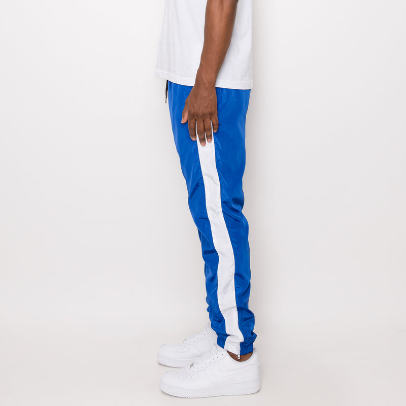 STRIPED WINDBREAKER TRACK PANTS - R BLUE/WHITE