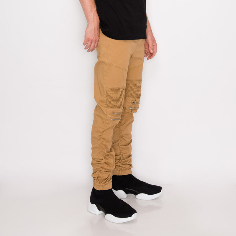 BUNGEE JOGGER PANTS - WHEAT