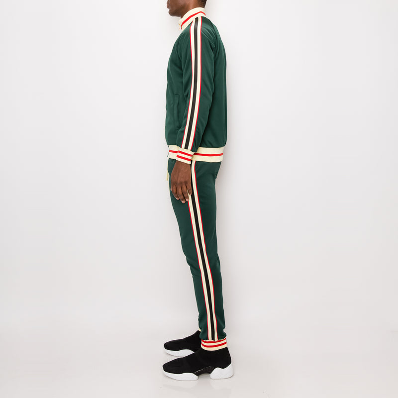 SIDE STRIPE TRACK SUITS - GREEN