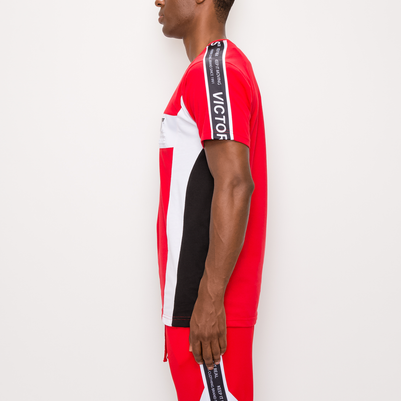MOTO TRACK T-SHIRT - RED