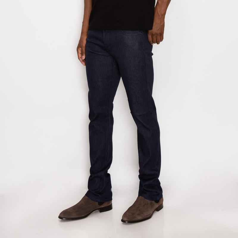 SLIM RAW DENIM JEANS - INDIGO