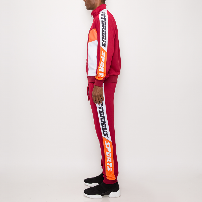VICTORIOUS SPORTS TRACK SUIT -BURGUNDY