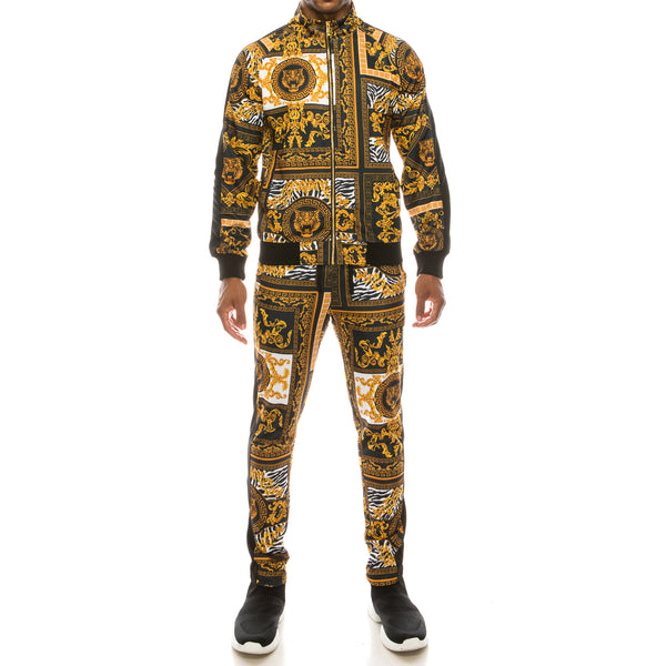BAROQUE TRACK SUITS SET - BLACK