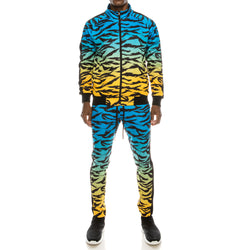 DIP DYE TIGER TRACK SUITS SET - BLUE