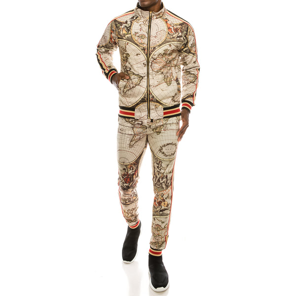 CONQUER TRACK SUITS SET - TAN