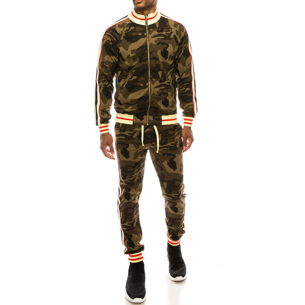 SIDE STRIPE TRACK SUITS - CAMO