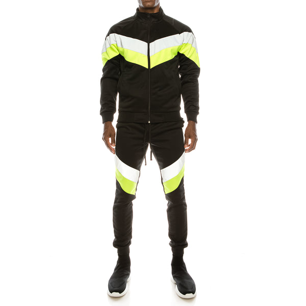 REFLECTIVE PANEL TRACK SET - NEON YELLOW