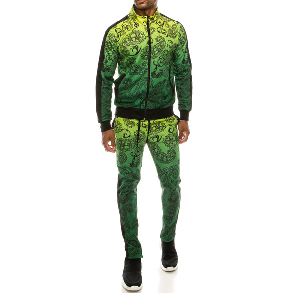 PAISLEY OMBRE TRACK SUITS SET - FROZEN YELLOW