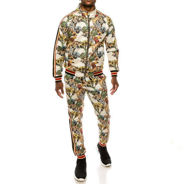 JUNGLE TIGER SUITS SET - OFF WHITE