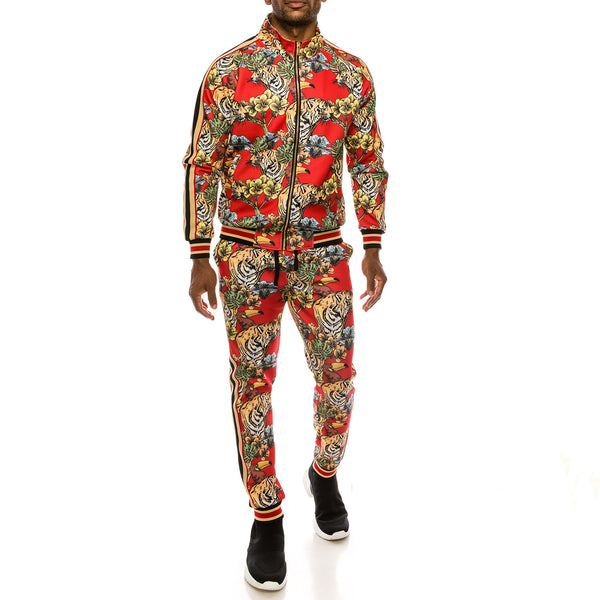 JUNGLE TIGER SUITS SET - RED