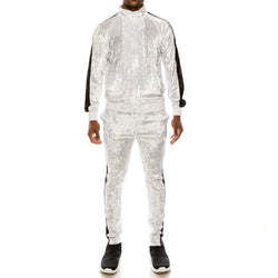 VELOUR SUITS SET - WHITE
