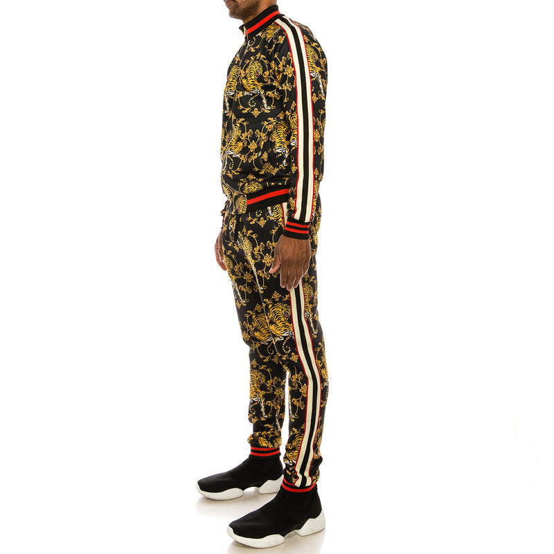 CROUCHING TIGER SUITS SET - BLACK