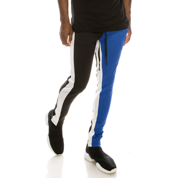 HALF AND HALF TRACK PANTS - BLUE