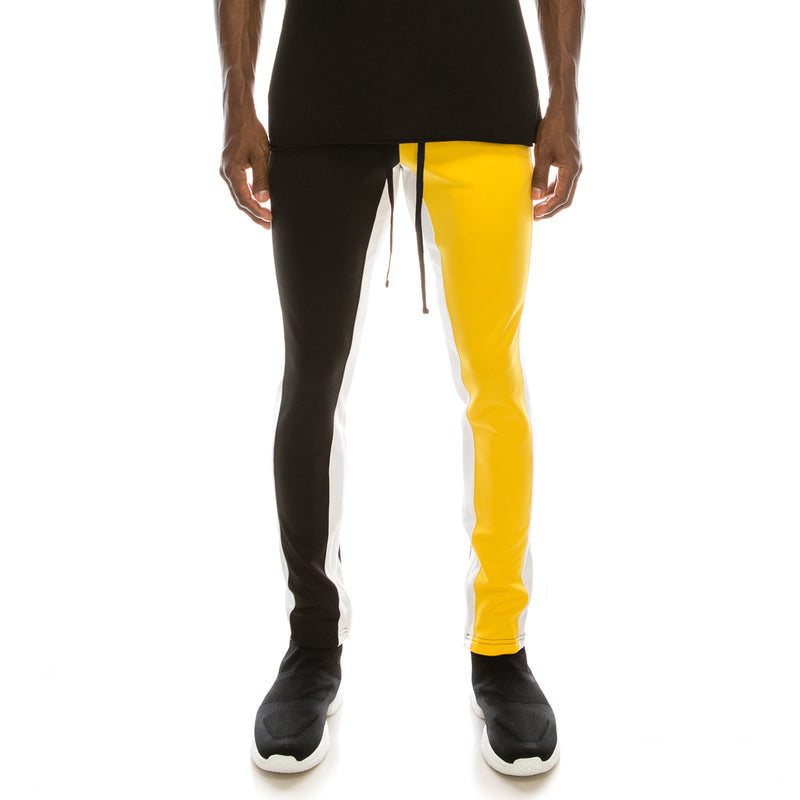 HALF AND HALF TRACK PANTS - GOLD