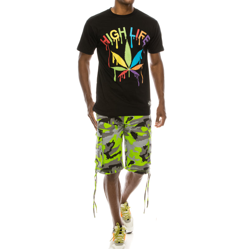 COLORFUL HIGH LIFE T-SHIRTS - BLACK