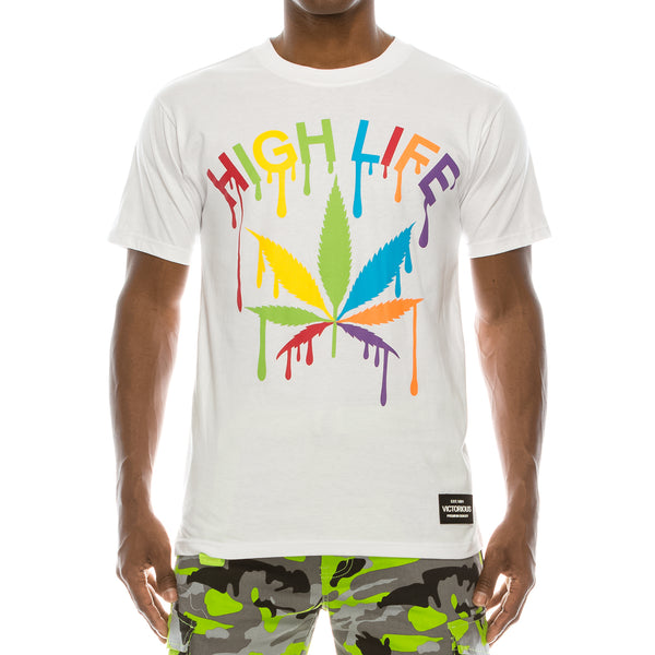 COLORFUL HIGH LIFE T-SHIRTS - WHITE