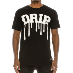 DRIP CHENILLE PATCH T-SHIRTS - BLACK