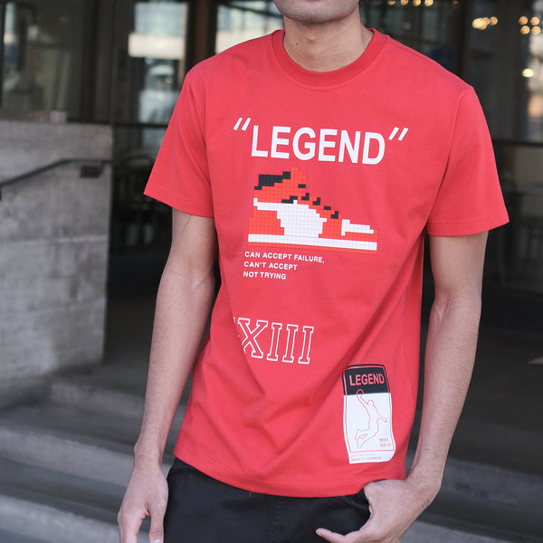LEGEND PIXEL T-SHIRTS - RED