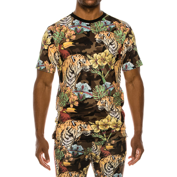 COLORFUL JUNGLE T-SHIRTS - CAMO