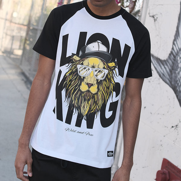 RAGLAN LION KING T-SHIRT - WHITE