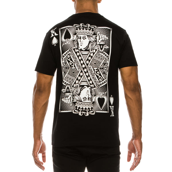 KING OF SPADE T-SHIRTS - BLACK