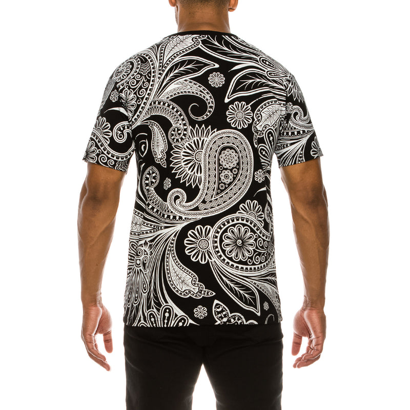 BIG PAISLEY T-SHIRTS - BLACK