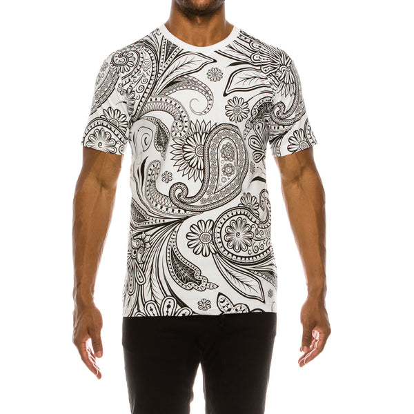 BIG PAISLEY T-SHIRTS - WHITE