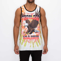 TIE-DYE EAGLE TANK-TOP