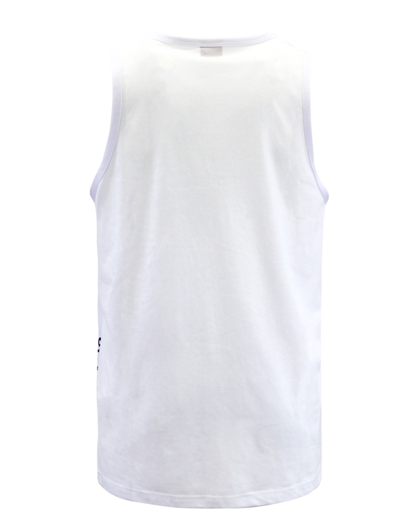 IRIDESCENT FOILMONEY TANK-TOP - WHITE