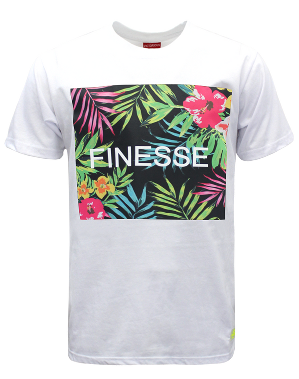 FINESSE FLORAL T-SHIRTS - WHITE
