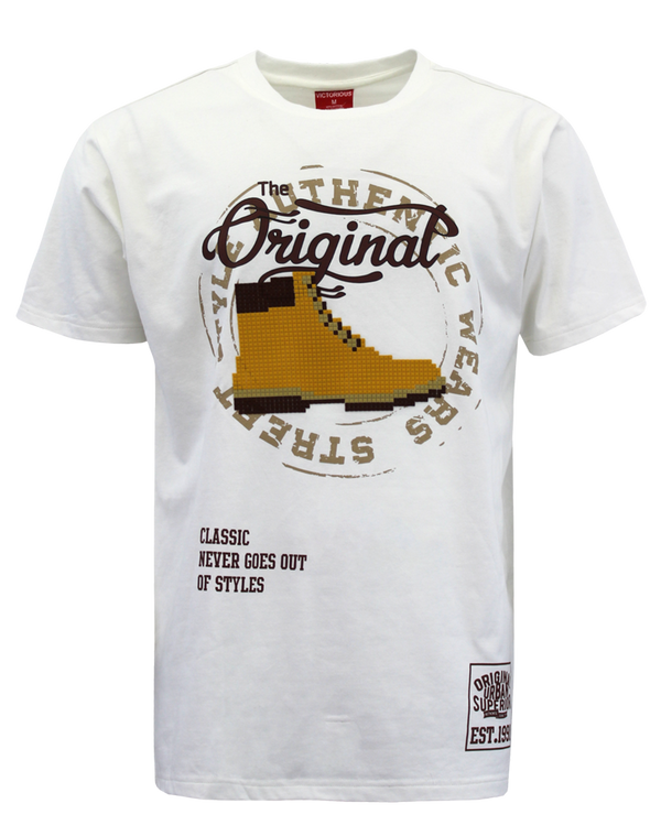 OG BOOTS PIXEL T-SHIRTS - WHITE