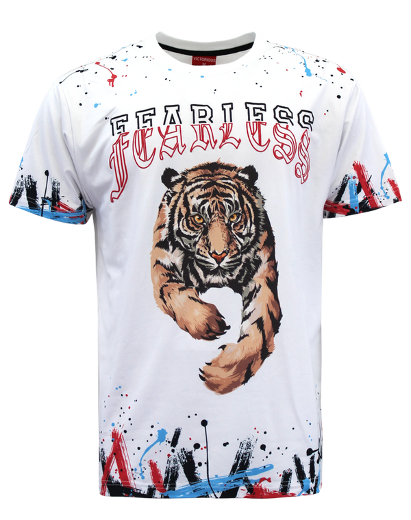 FEARLESS SPLATTER T-SHIRT - WHITE