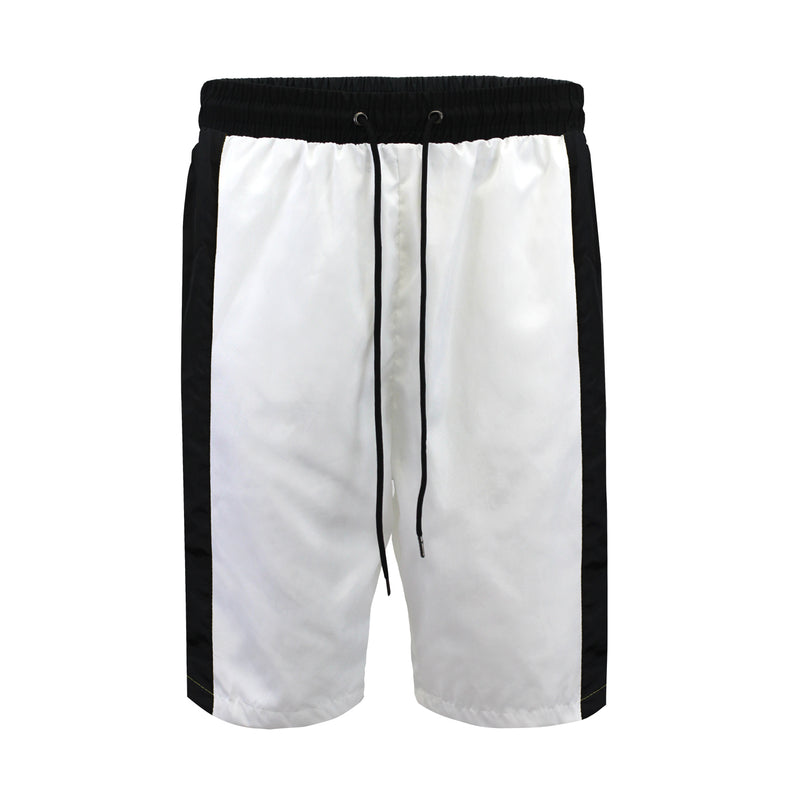 NYLON TRACK SHORTS - WHITE