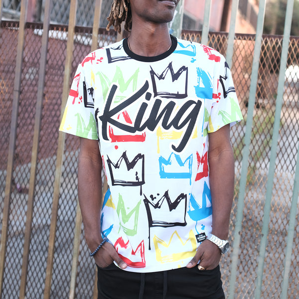 CROWN GRAFFITI T-SHIRT - WHITE