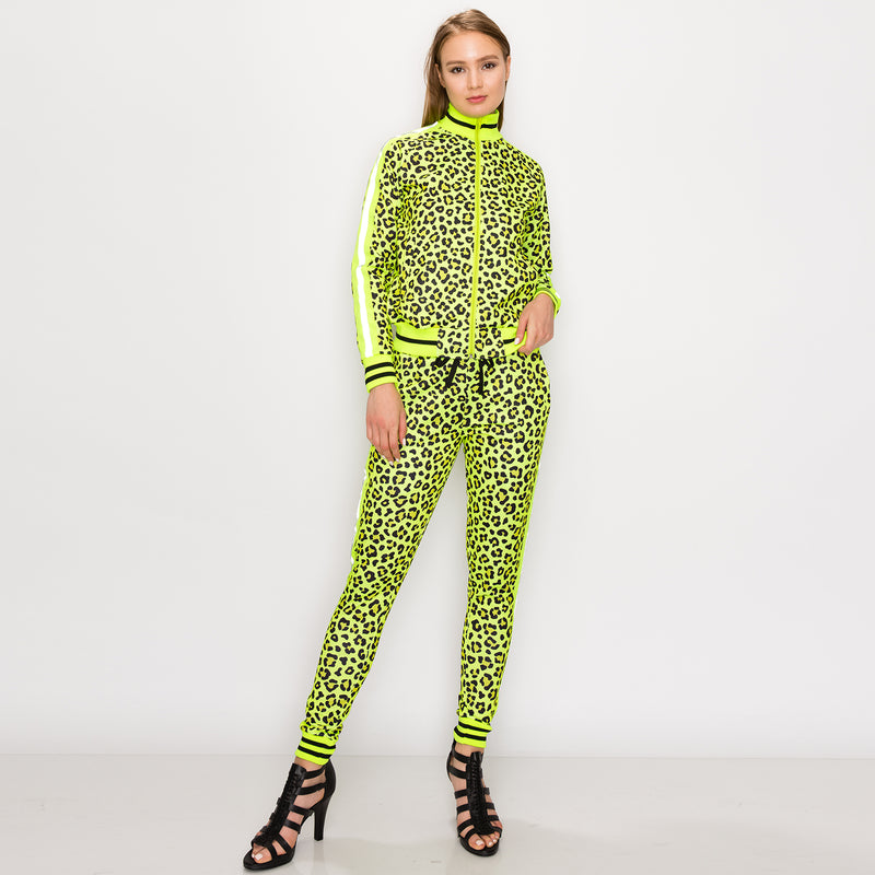 REFLECTIVE LEOPARD TRACK SUITS