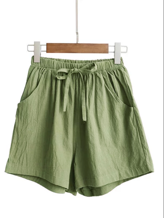 Women Linen Casual Short Pants