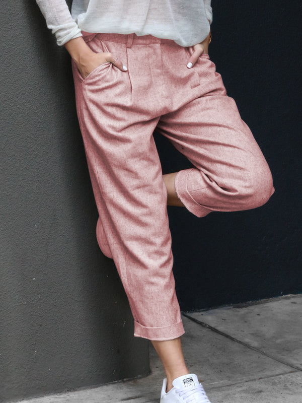 Cotton Plain Pants