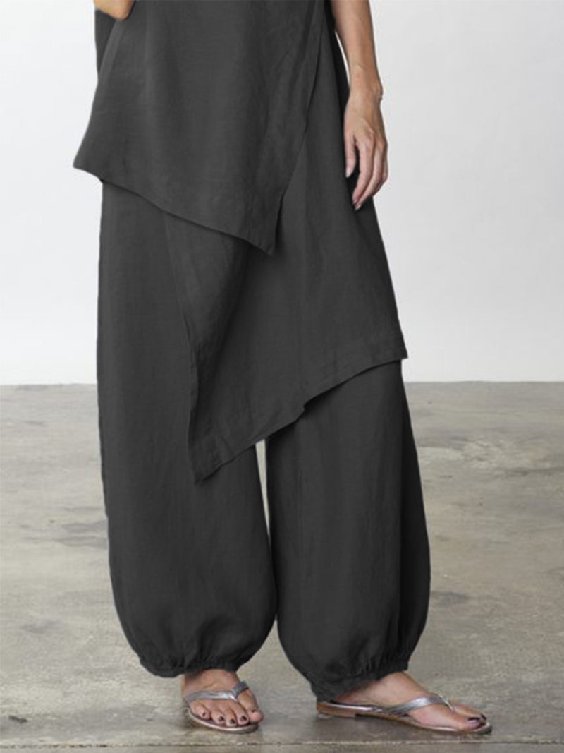 Cotton-Blend Pants