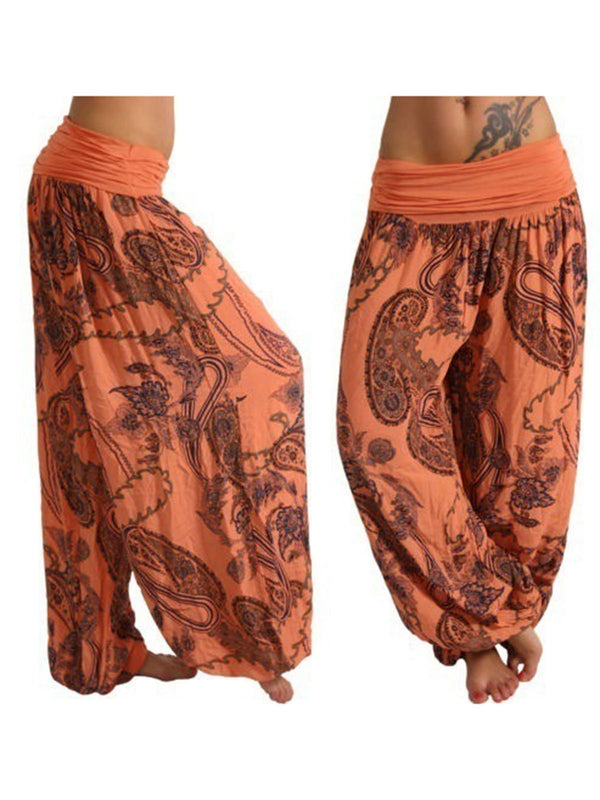 S-5XL Plus Size Casual Floral Pants for Women