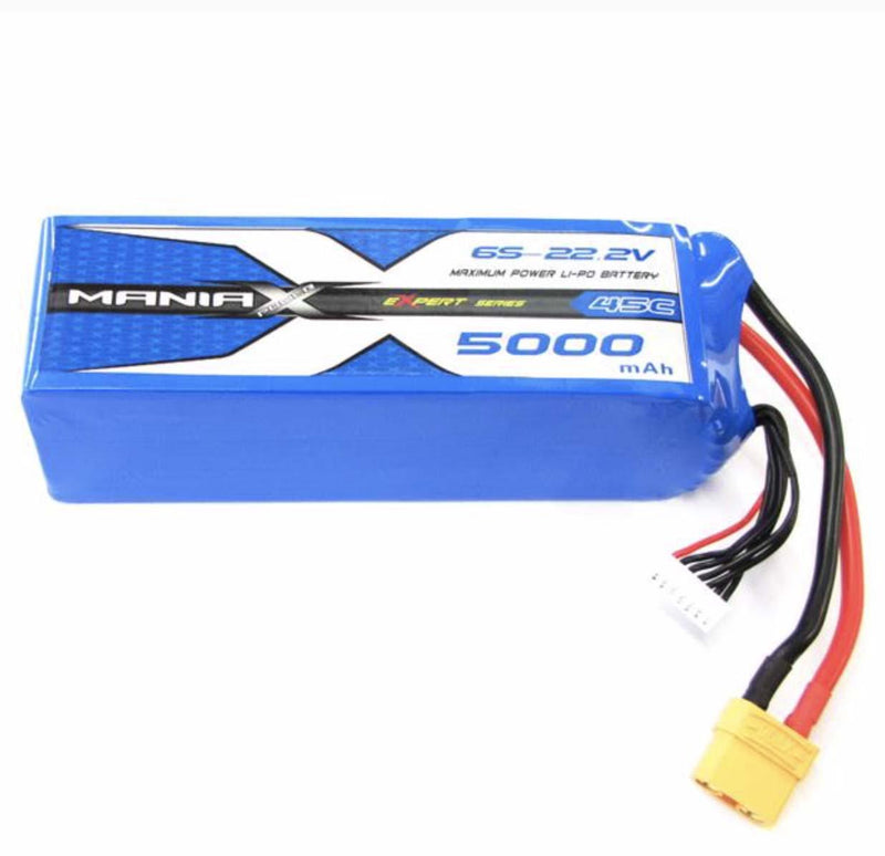ManiaX LiPo 6S 5000mAh 22.2V 45C Battery AS150