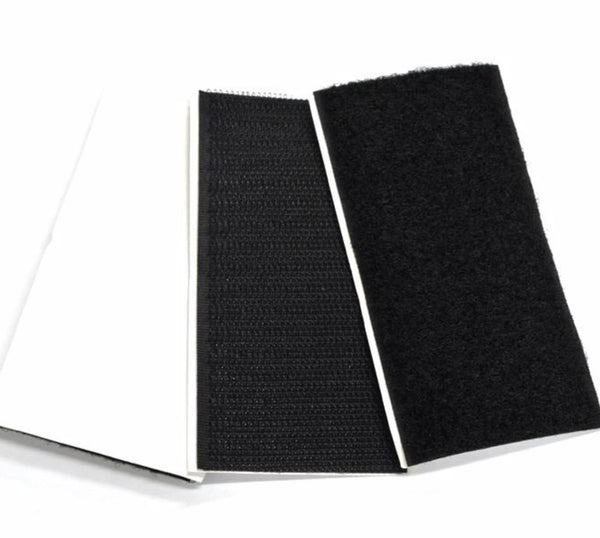 Lynx Hook and Loop Velcro pads 50x100 Black 5 Pair