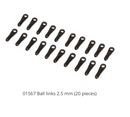 01567 Ball links 2.5 mm (20 pieces)