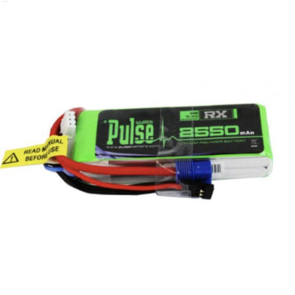 Pulse 2550mah 2S 7.4V 15C Lipo Receiver Pack