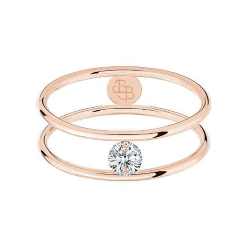 bague hula hoop or rose diamant