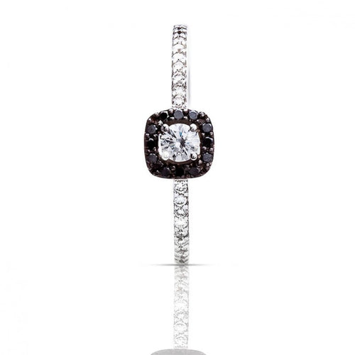 Bague One More en or blanc 18 carats Diamants noirs et diamants blancs