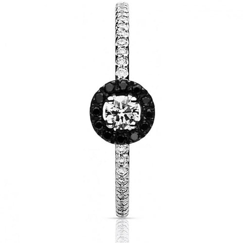 Bague One More en or blanc 18K Diamants noirs et diamants blancs