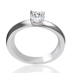Bague One More en or blanc 18 carats Solitaire diamant 0,38 carats
