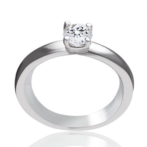 Bague One More en or blanc 18 carats Solitaire diamant 0,43 carats