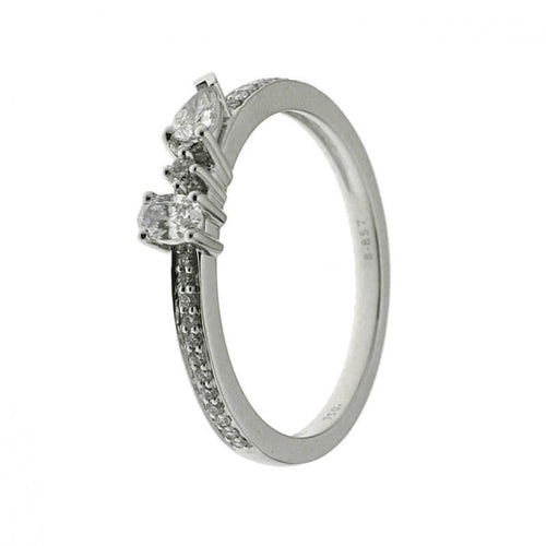 Bague Sweet Paris en or blanc sertie de diamants